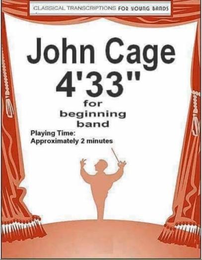 John Cage printed band arrangement