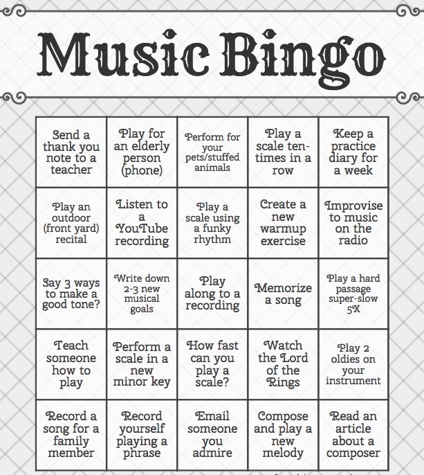 Mr. Fox's Music Bingo
