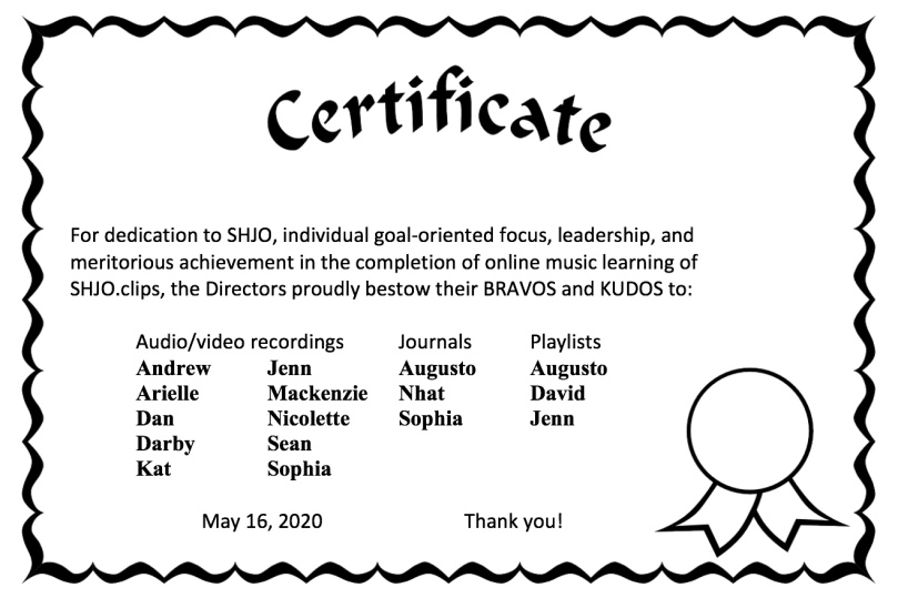 certificate image as of 051620