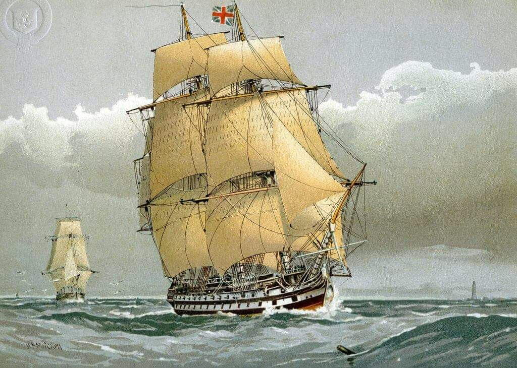 A_74_gun_Royal_Navy_ship_of_the_line,_c1794