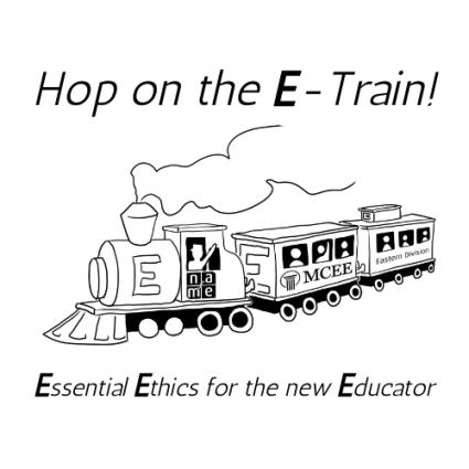 Hop on the E-Train final logo